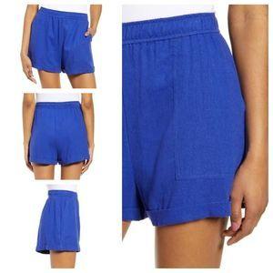BP Blue Casual Linen High Shorts Sz XL